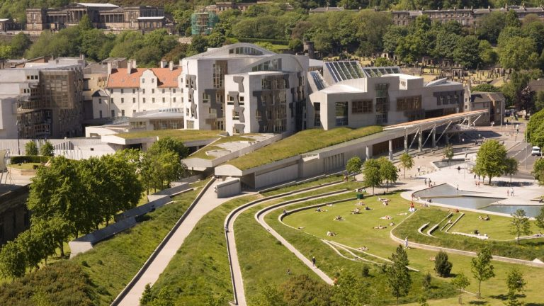 The Scottish Parliament building