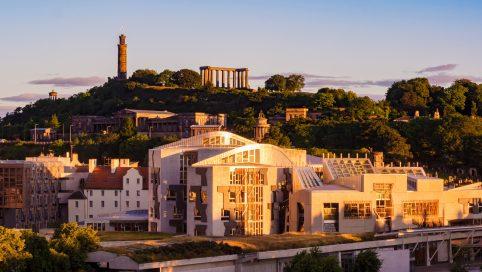 Scottish Parliament sunrise
