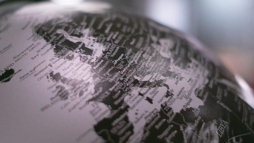 A globe of europe